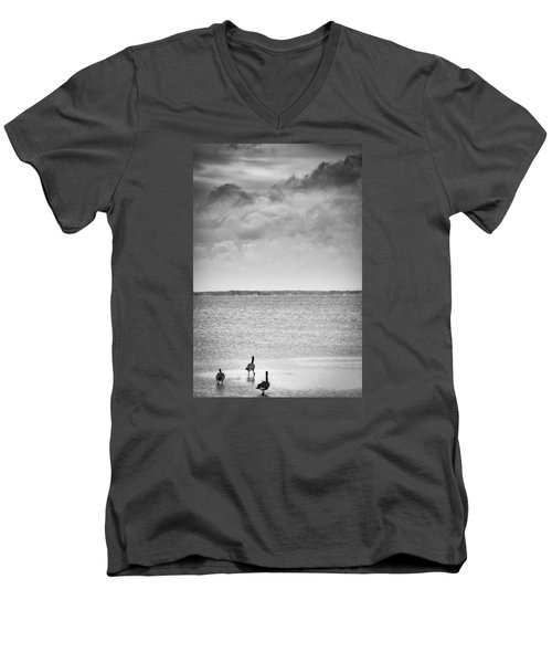 Canada Geese - Currituck Sound Men's V-Neck T-Shirt