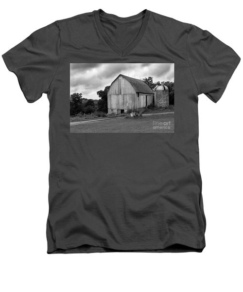 Stormy Barn Men's V-Neck T-Shirt by Perry Webster