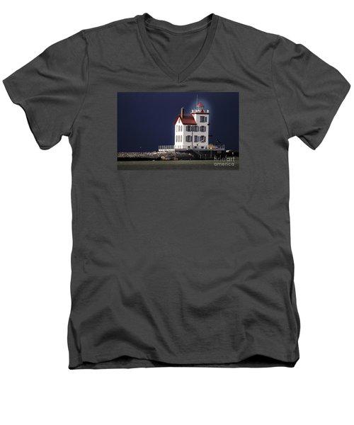 Stormy Lighthouse Men's V-Neck T-Shirt