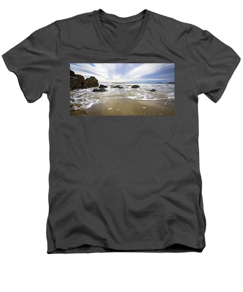 Stormy Maine Morning #1 Men's V-Neck T-Shirt