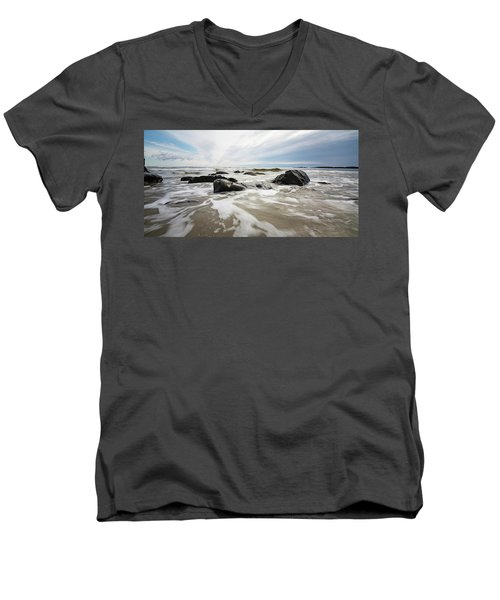 Stormy Maine Morning #3 Men's V-Neck T-Shirt