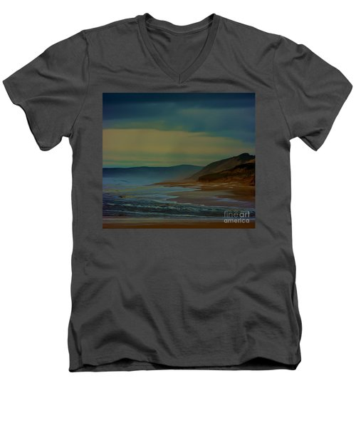 Men's V-Neck T-Shirt featuring the photograph Stormy Morning by Blair Stuart