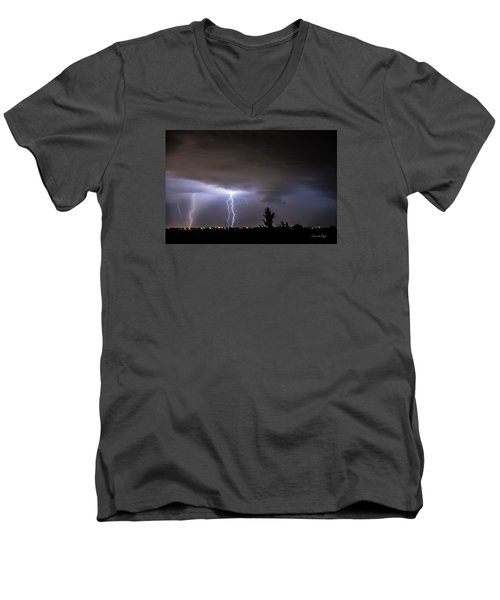 Stormy Night Men's V-Neck T-Shirt