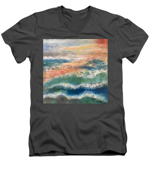 Stormy Seas Men's V-Neck T-Shirt by Kim Nelson