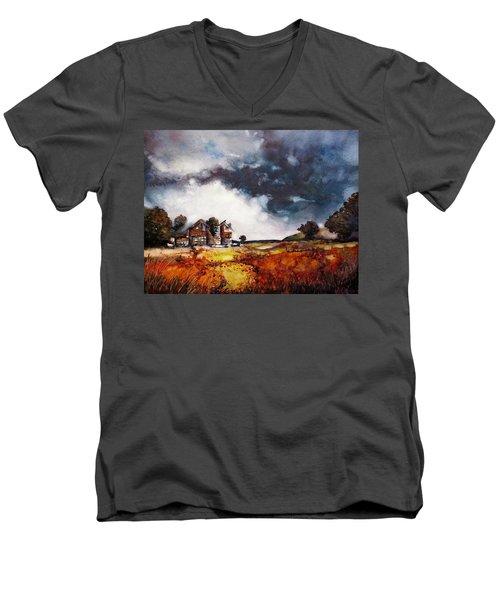 Stormy Skies Men's V-Neck T-Shirt by Geni Gorani