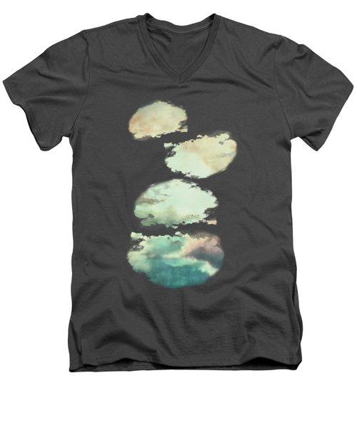 Stormy Sky Men's V-Neck T-Shirt by AugenWerk Susann Serfezi