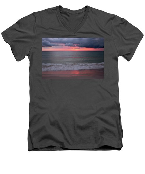 Stormy Sunset Men's V-Neck T-Shirt