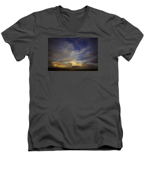 Stormy Sunset Men's V-Neck T-Shirt by Toni Hopper