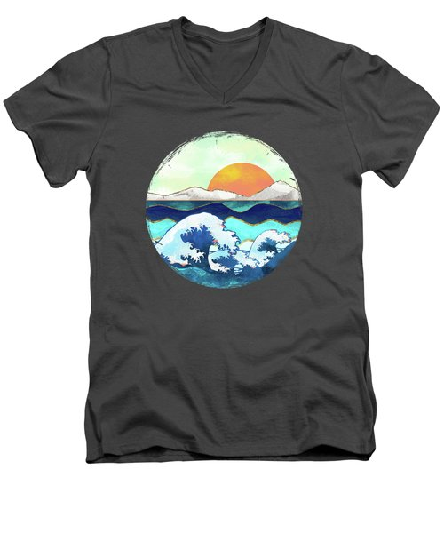 Stormy Waters Men's V-Neck T-Shirt by Spacefrog Designs