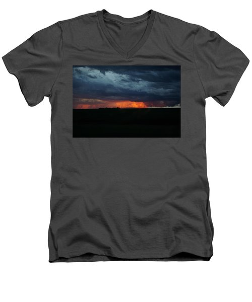 Stormy Weather Men's V-Neck T-Shirt by Kathy M Krause