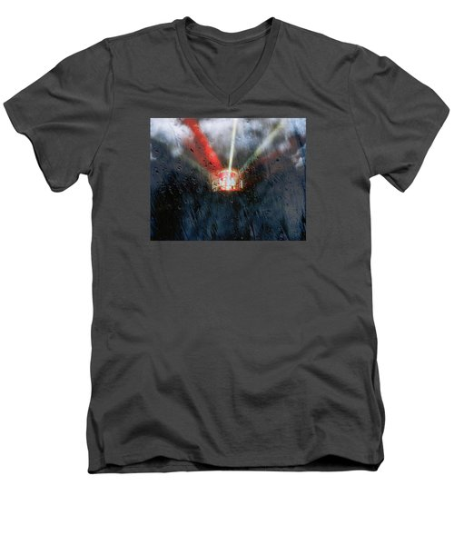 Stormy Weather Men's V-Neck T-Shirt by Nick Kloepping