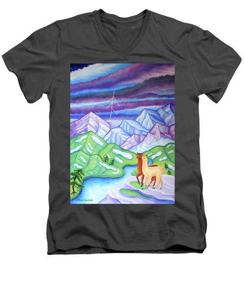 Stormy Weather Men's V-Neck T-Shirt by Tracy Dennison