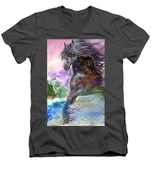 Stormy Wind Horse Men's V-Neck T-Shirt