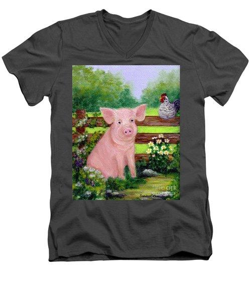 Storybook Pig Men's V-Neck T-Shirt