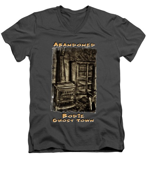 Stove And Cabinet Bodie Ghost Town Men's V-Neck T-Shirt