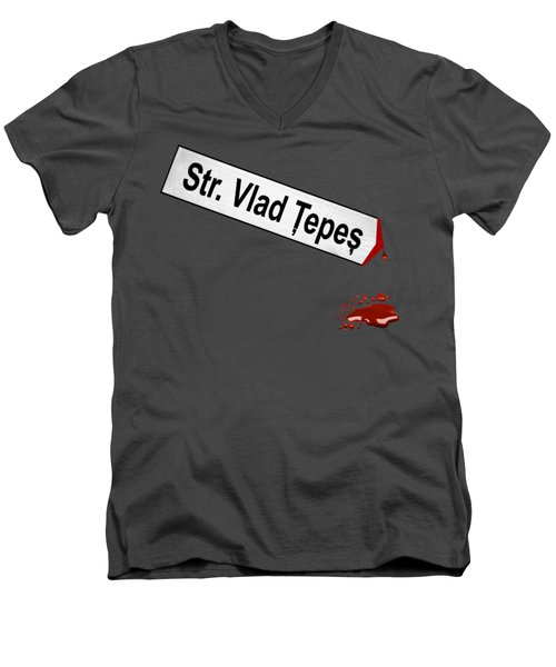 Strada Vlad Tepes Men's V-Neck T-Shirt