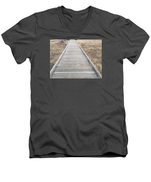 Straight And Narrow Men's V-Neck T-Shirt by Russell Keating