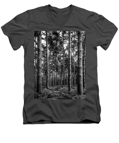 Men's V-Neck T-Shirt featuring the photograph Straight Up by Nick Bywater