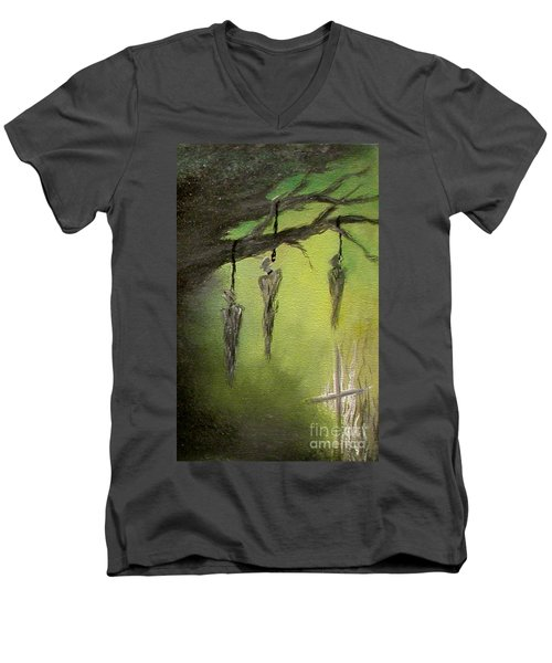 Strange Fruit Men's V-Neck T-Shirt by Alys Caviness-Gober