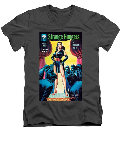 Strange Hungers Men's V-Neck T-Shirt by Eric Stanton