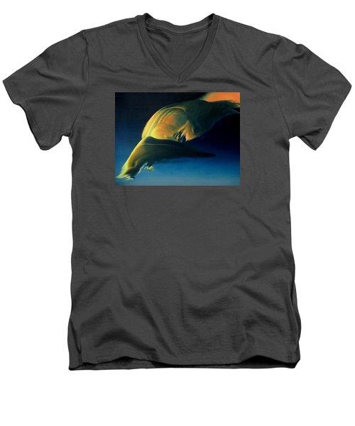 Strange Weather Men's V-Neck T-Shirt by Vivien Rhyan