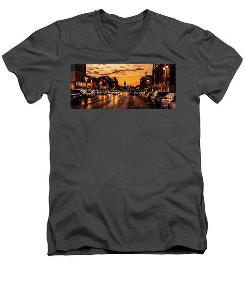 Stratford Main Drag At Dusk Men's V-Neck T-Shirt