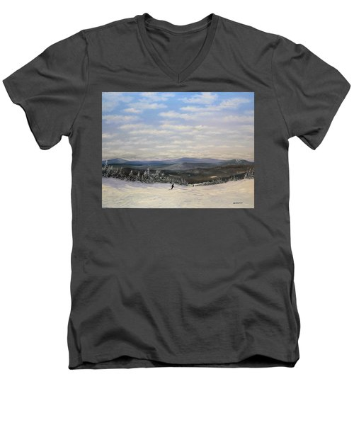 Stratton Skiing Men's V-Neck T-Shirt
