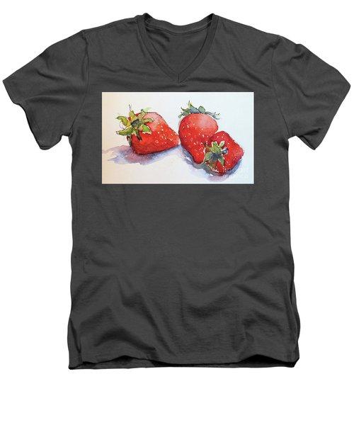 Strawberries Men's V-Neck T-Shirt