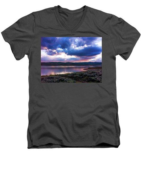 Strawberry Sunset Men's V-Neck T-Shirt