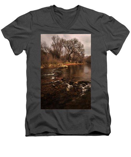 Stream And Tree Men's V-Neck T-Shirt