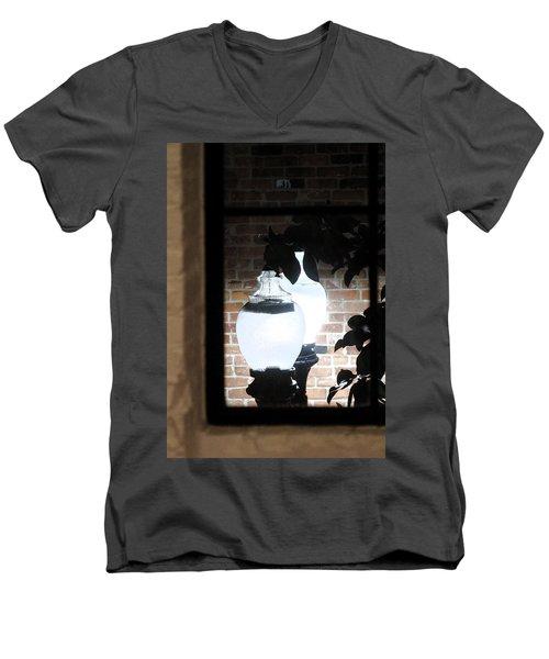 Street Light Through Window Men's V-Neck T-Shirt
