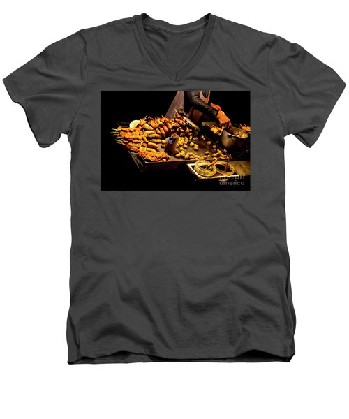 Men's V-Neck T-Shirt featuring the photograph Street Meat by Al Bourassa