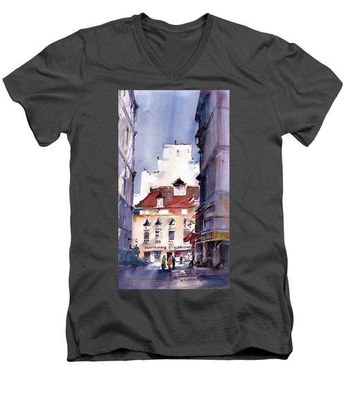 Parisian Stroll Men's V-Neck T-Shirt