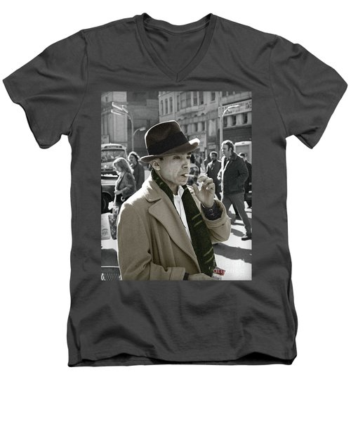 Street Smoking Man Men's V-Neck T-Shirt