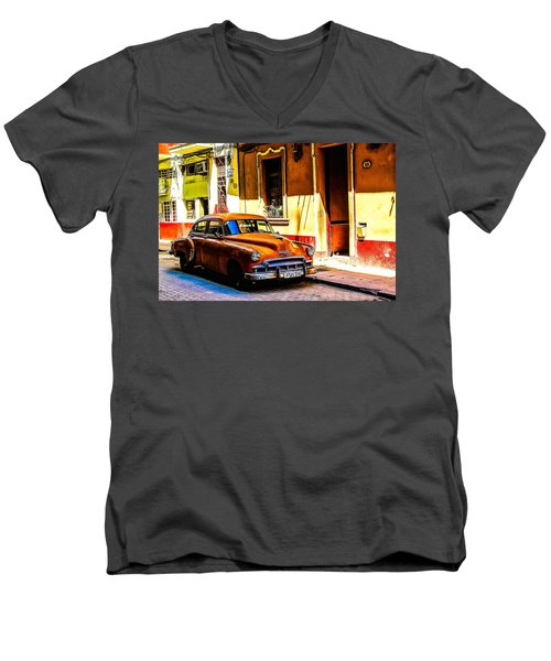 Streets Of Havana Men's V-Neck T-Shirt