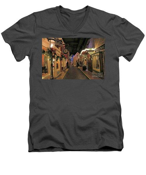 Streets Of Old Milwaukee Men's V-Neck T-Shirt