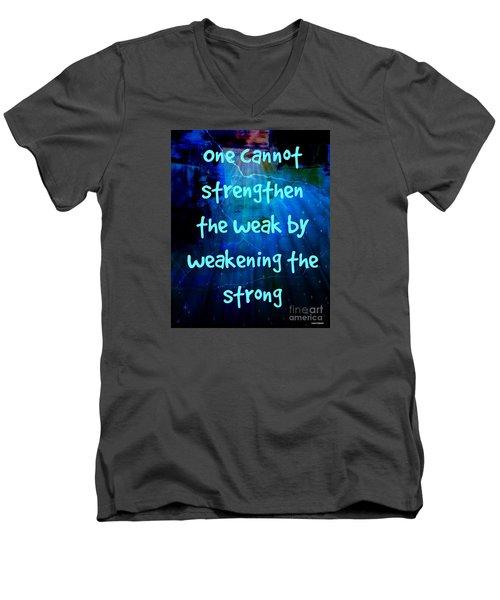 Strength V Weakness Men's V-Neck T-Shirt