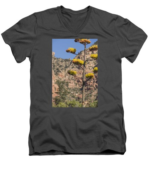 Men's V-Neck T-Shirt featuring the photograph Stretching Tall by Laura Pratt