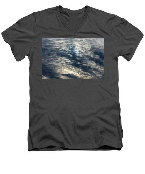 Striated Clouds Men's V-Neck T-Shirt