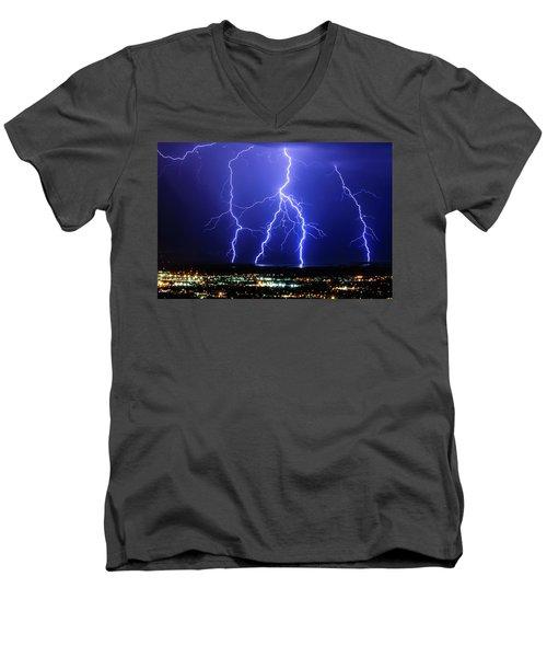 Strike Four Men's V-Neck T-Shirt