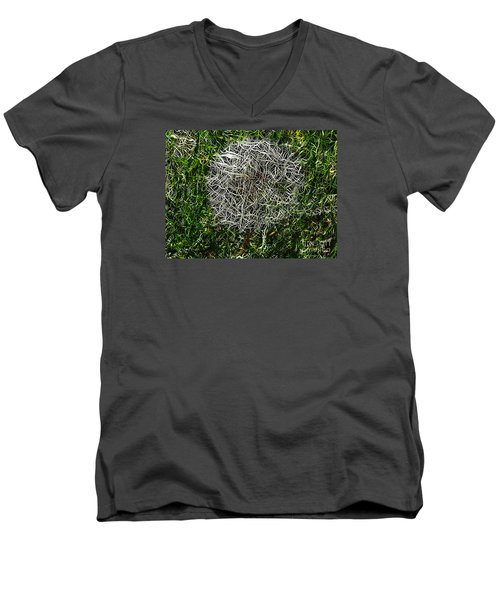 String Theory Dandelion Men's V-Neck T-Shirt by Craig Walters