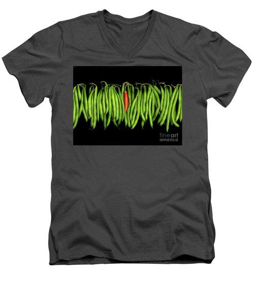 Stringbeans And Chilli Men's V-Neck T-Shirt by Christian Slanec