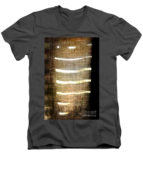 Stripes And Texture Men's V-Neck T-Shirt