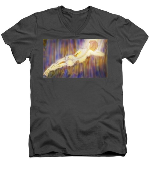 Stripes Men's V-Neck T-Shirt by Ian  MacDonald