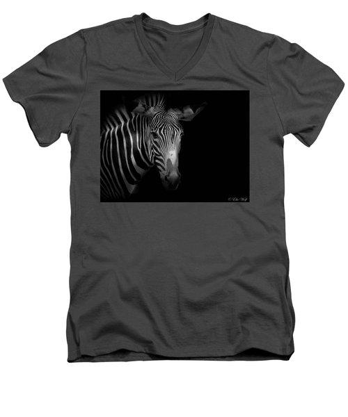 Stripes Number 5 Men's V-Neck T-Shirt