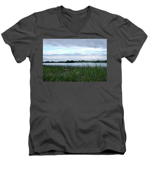 Men's V-Neck T-Shirt featuring the photograph Strolling By The Lake by Terence Davis