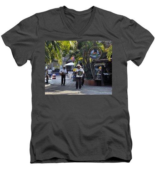 Strolling Musicians Men's V-Neck T-Shirt by Jim Walls PhotoArtist