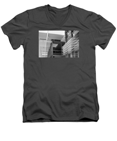 Structure Abstract 1 Men's V-Neck T-Shirt by Cheryl Del Toro