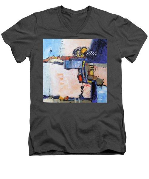 Structured Men's V-Neck T-Shirt