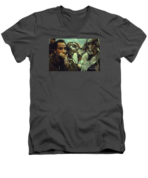 War On Three Men's V-Neck T-Shirt